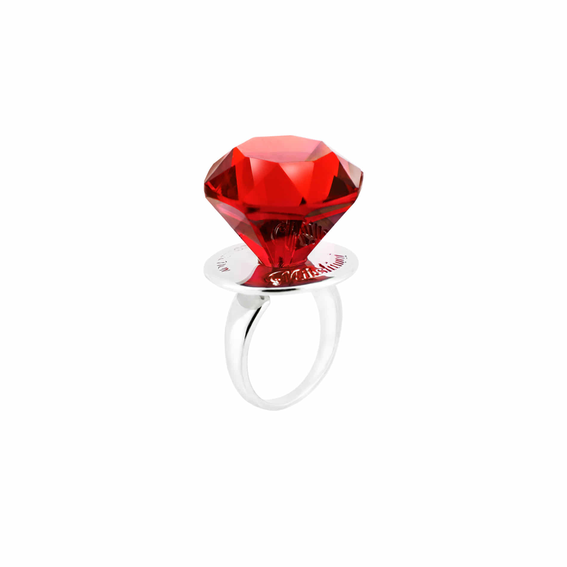DIAMOND CANDY RING (RED)