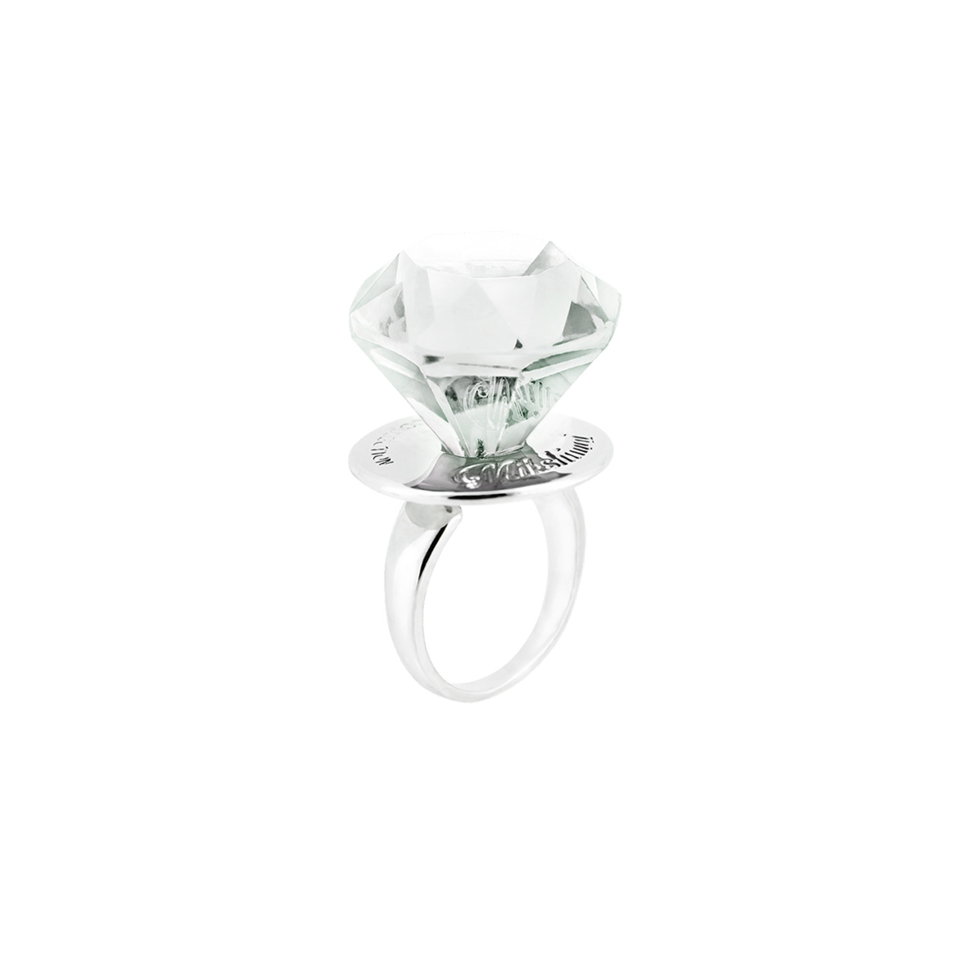DIAMOND CANDY RING (CLEAR)