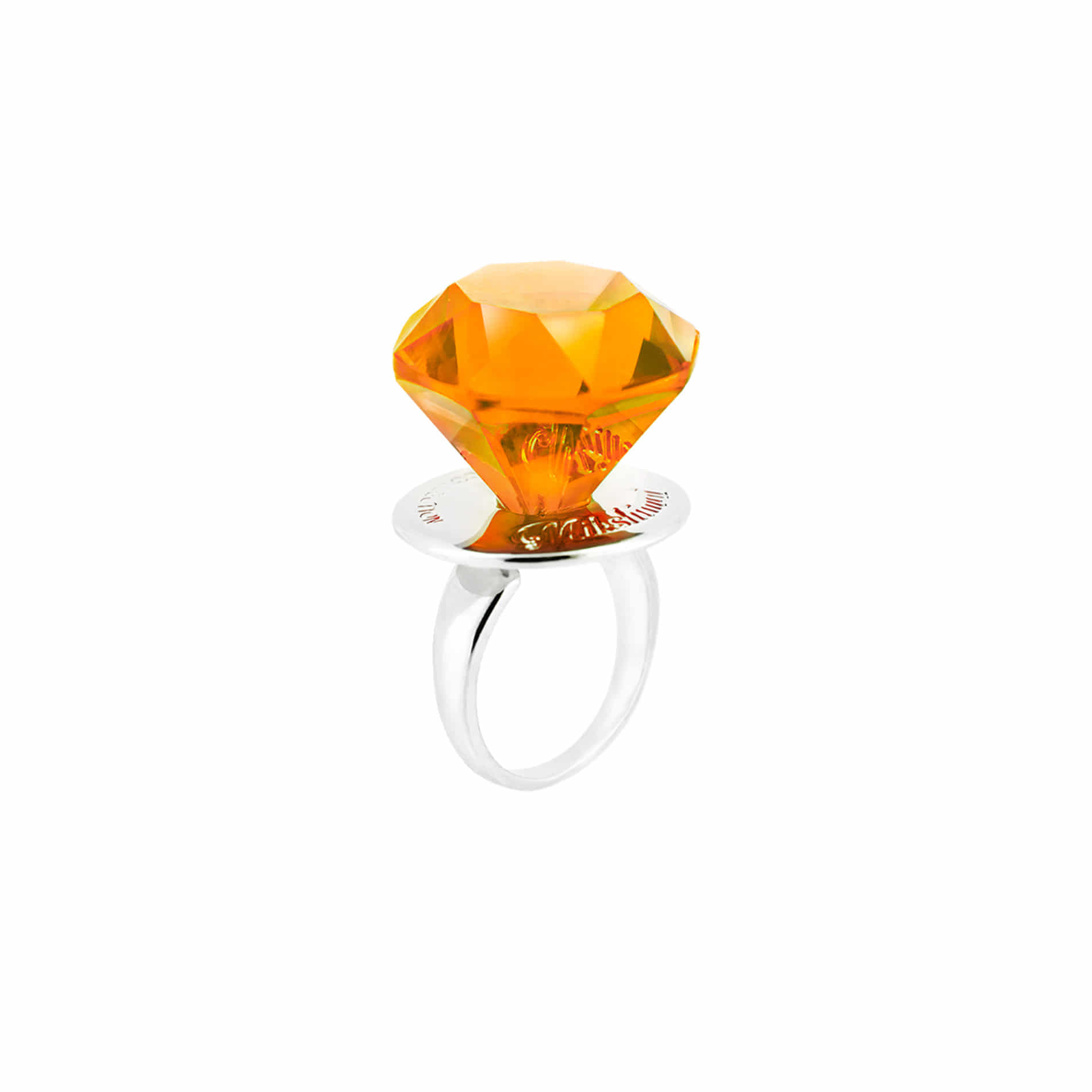 DIAMOND CANDY RING (ORANGE)