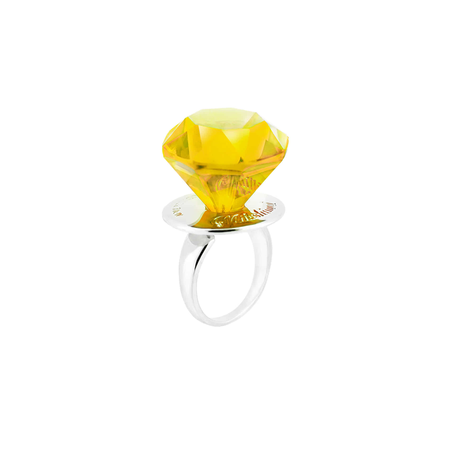 DIAMOND CANDY RING (YELLOW)
