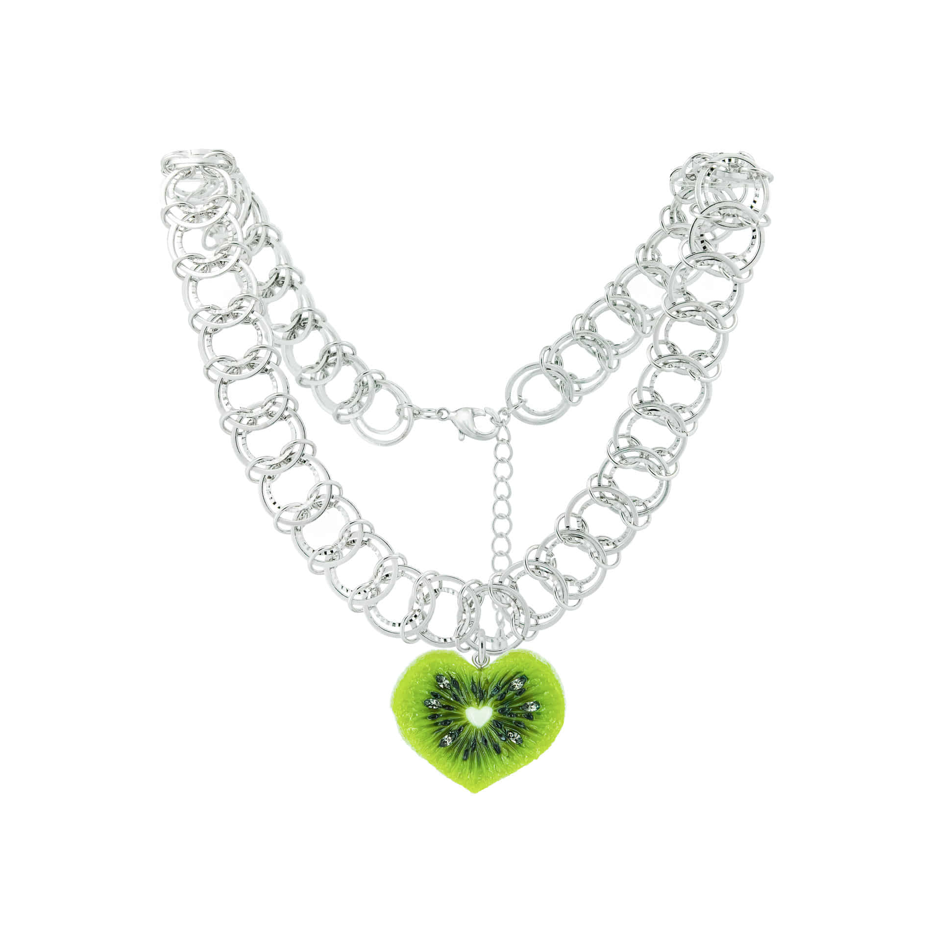 HEART KIWI NECKLACE