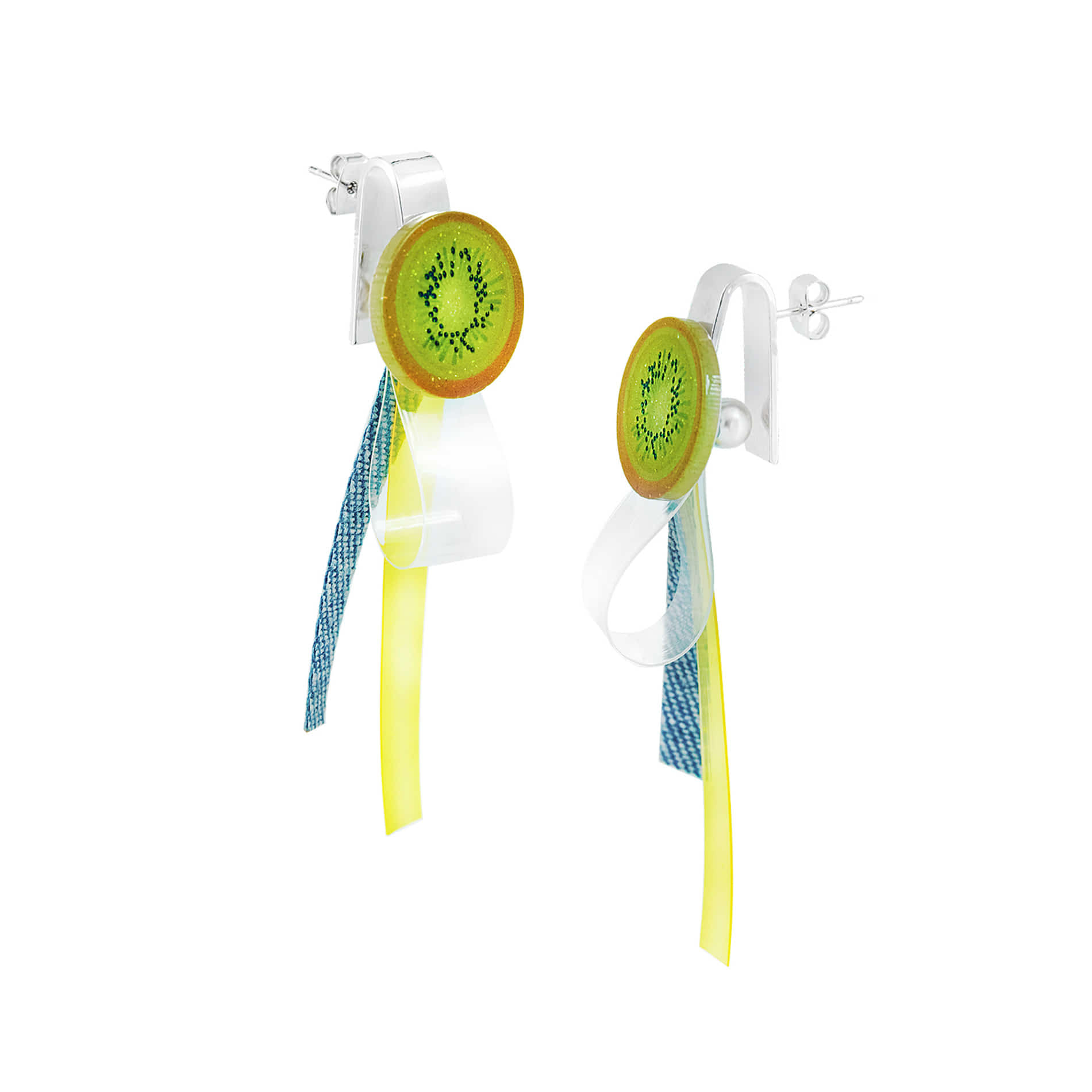 RIBBON FRUITS EARRINGS (KIWI)