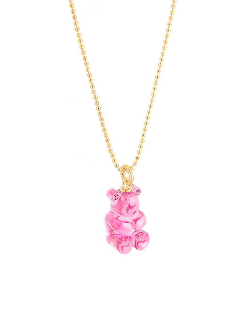 [리퍼브]GUMMYBEAR NECKLACE (PINK)