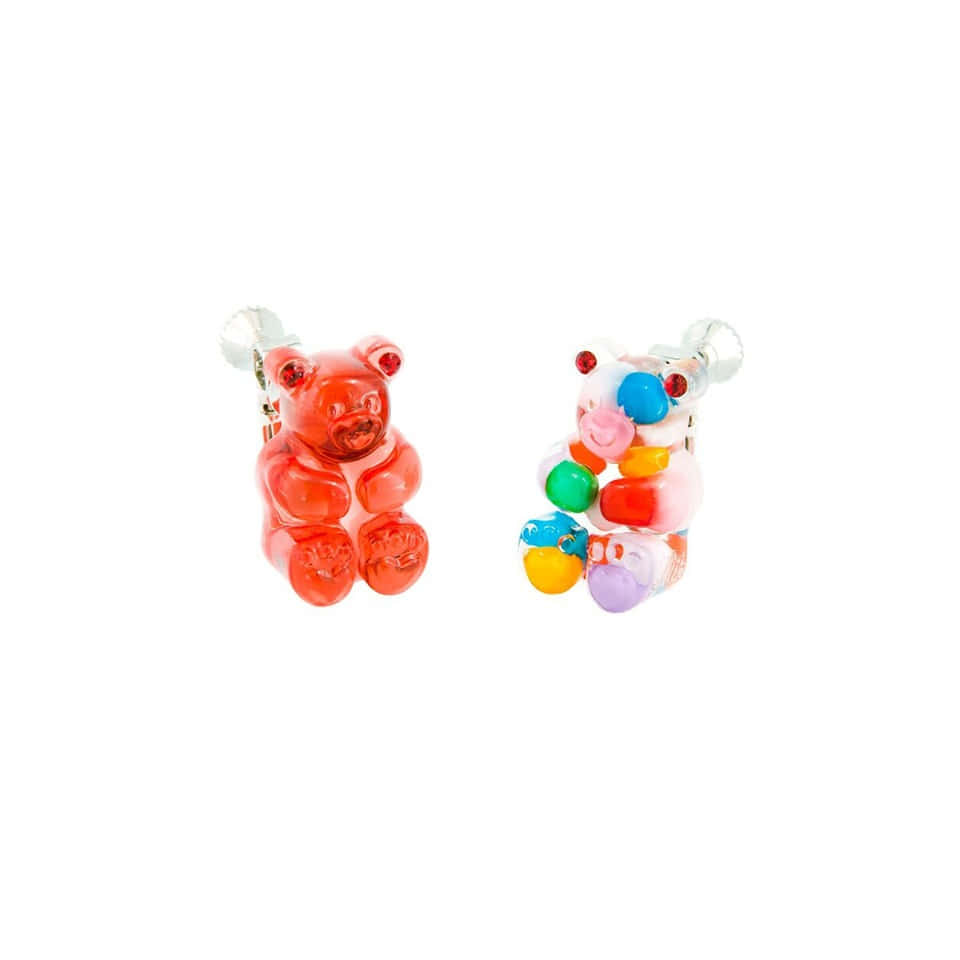 GUMMY BEAR EAR CLIPS (RED+MULTI VIVID)