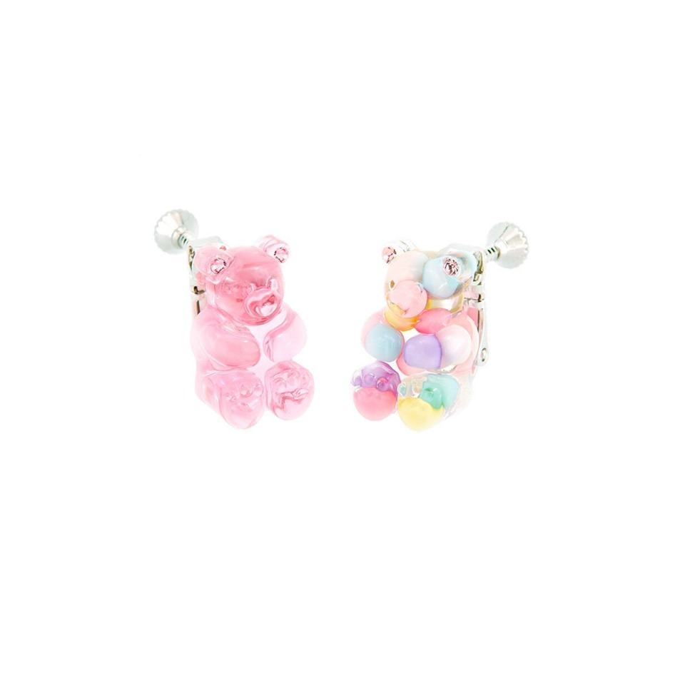 GUMMY BEAR EAR CLIPS (PINK+MULTI PASTEL)