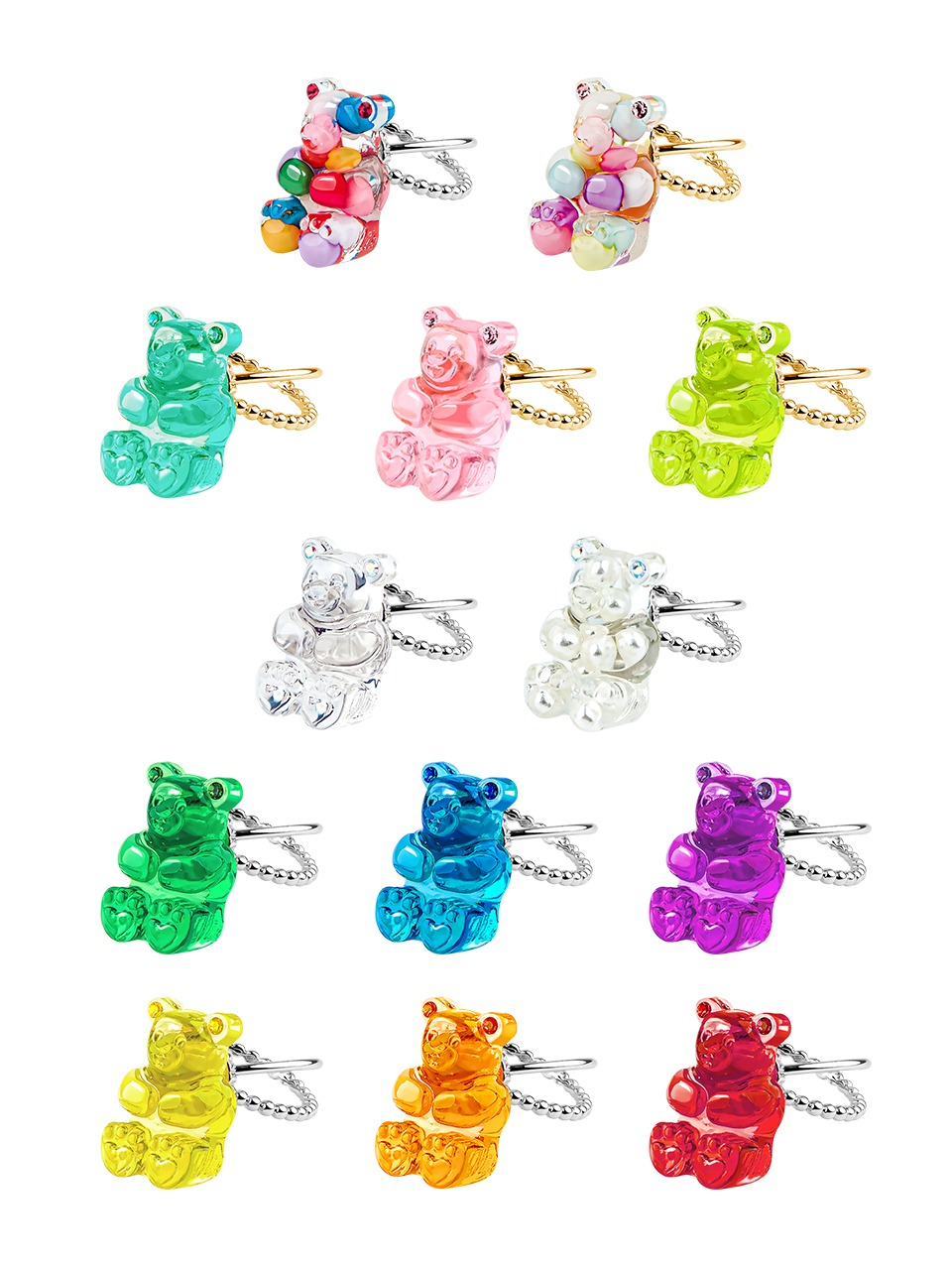GUMMY BEAR RING(13 COLORS)
