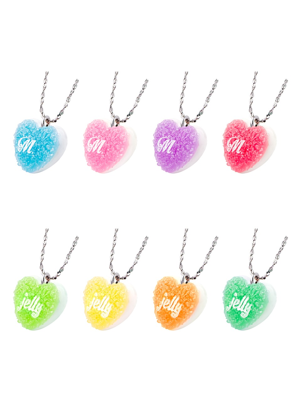 HEART SUGAR JELLY NECKLACE(8 COLORS)