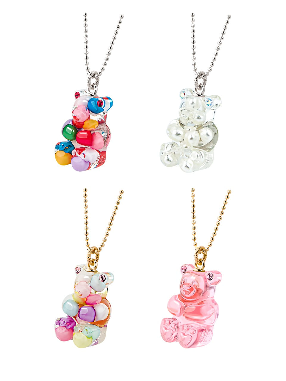 GUMMY BEAR NECKLACE(13 COLORS)