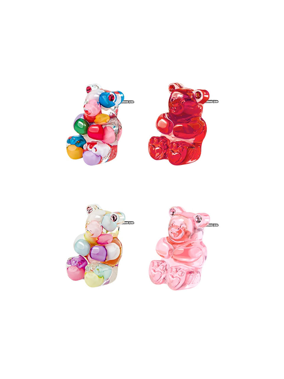 GUMMY BEAR STUD EARRINGS(13 COLORS)