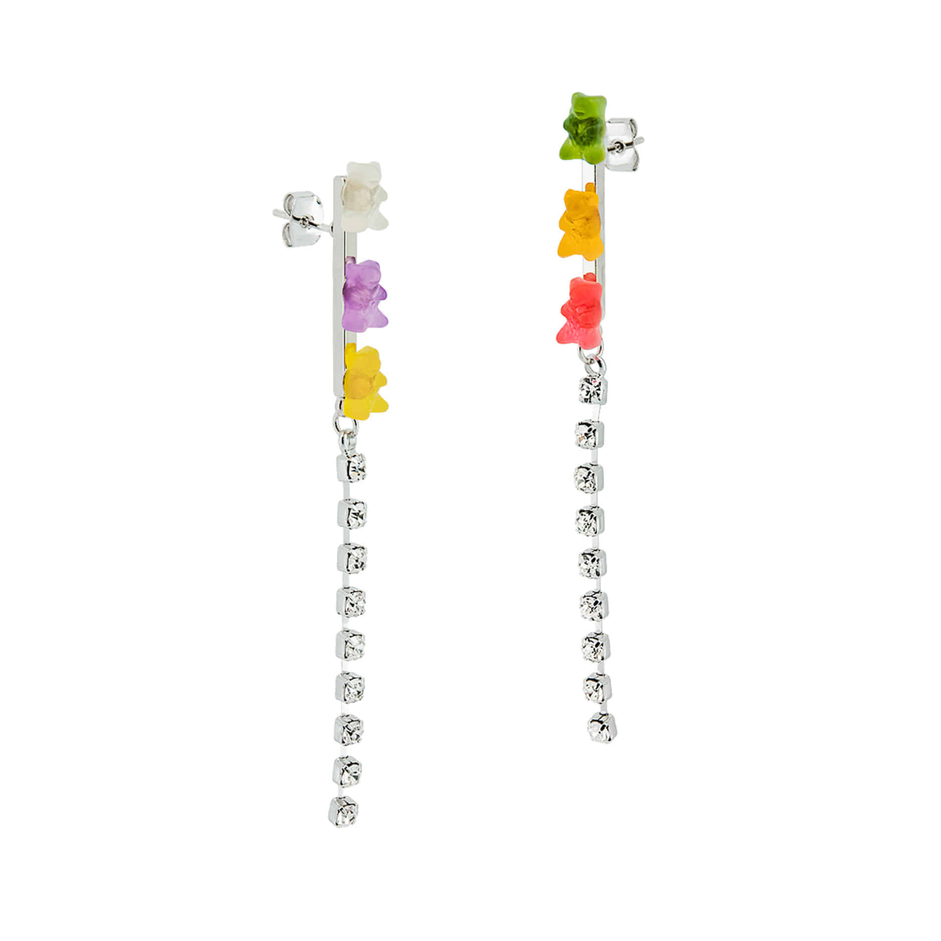 JELLY BEAR CRYSTAL DROP EARRINGS