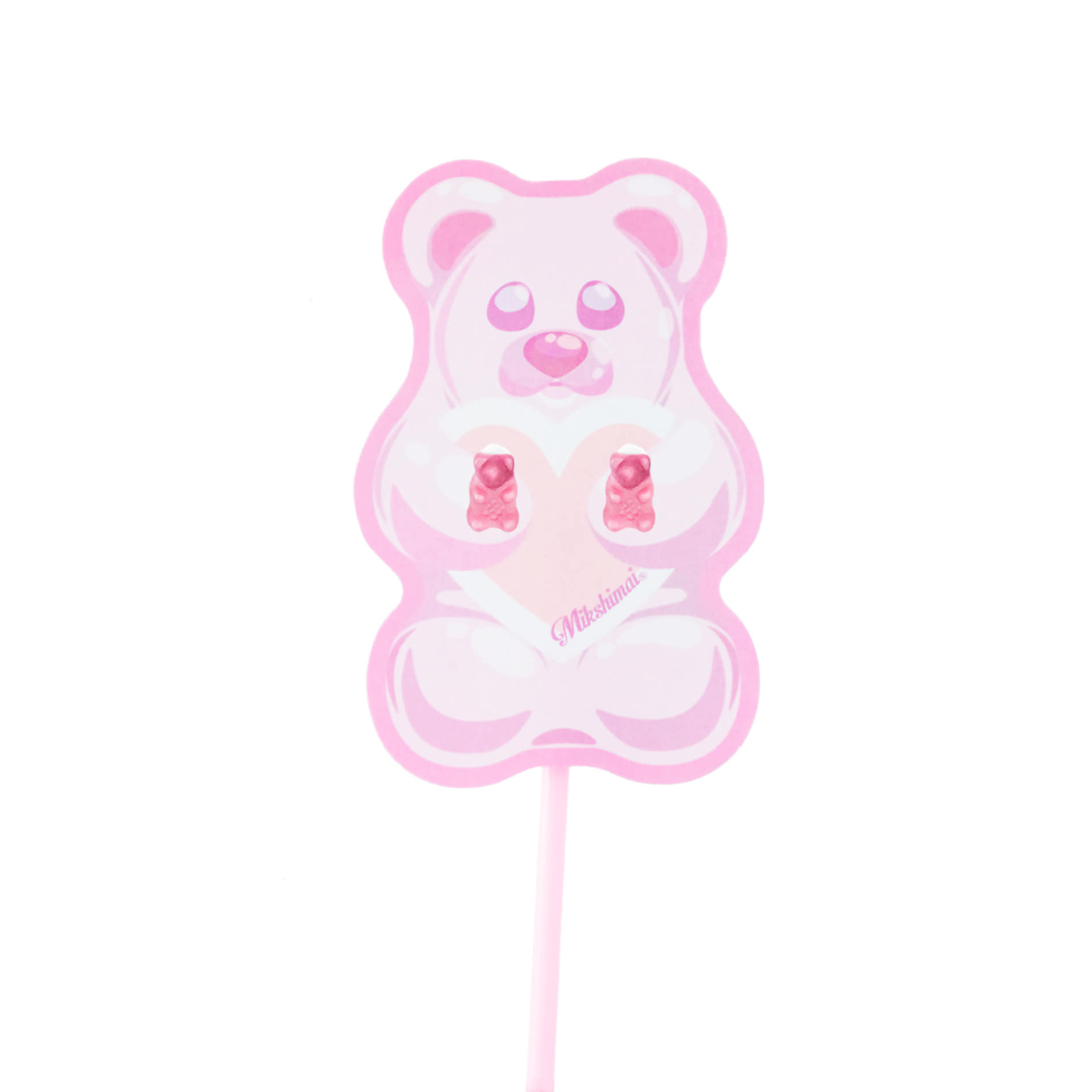 JELLY BEAR STUD EARRINGS (PINK)