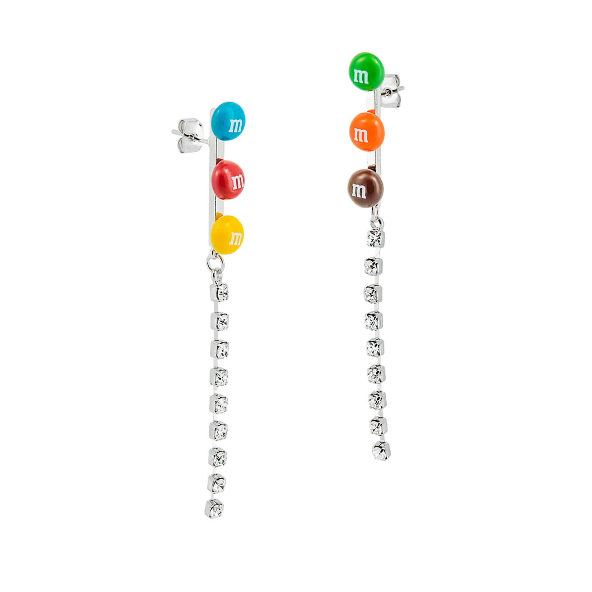 M CHOCOLATE CRYSTAL DROP EARRINGS