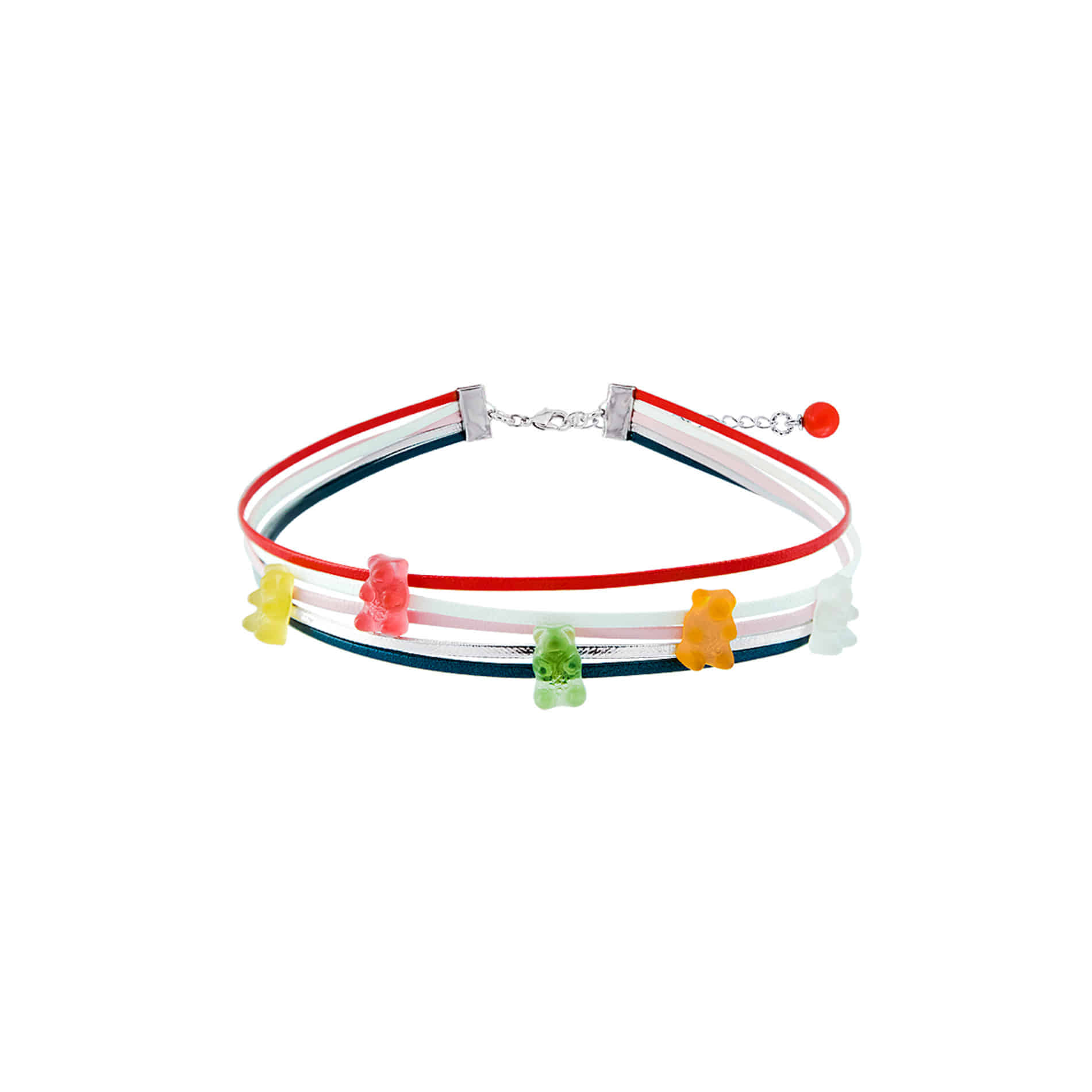 5 JELLY BEAR CHOKER NECKLACE (MULTI VIVID)