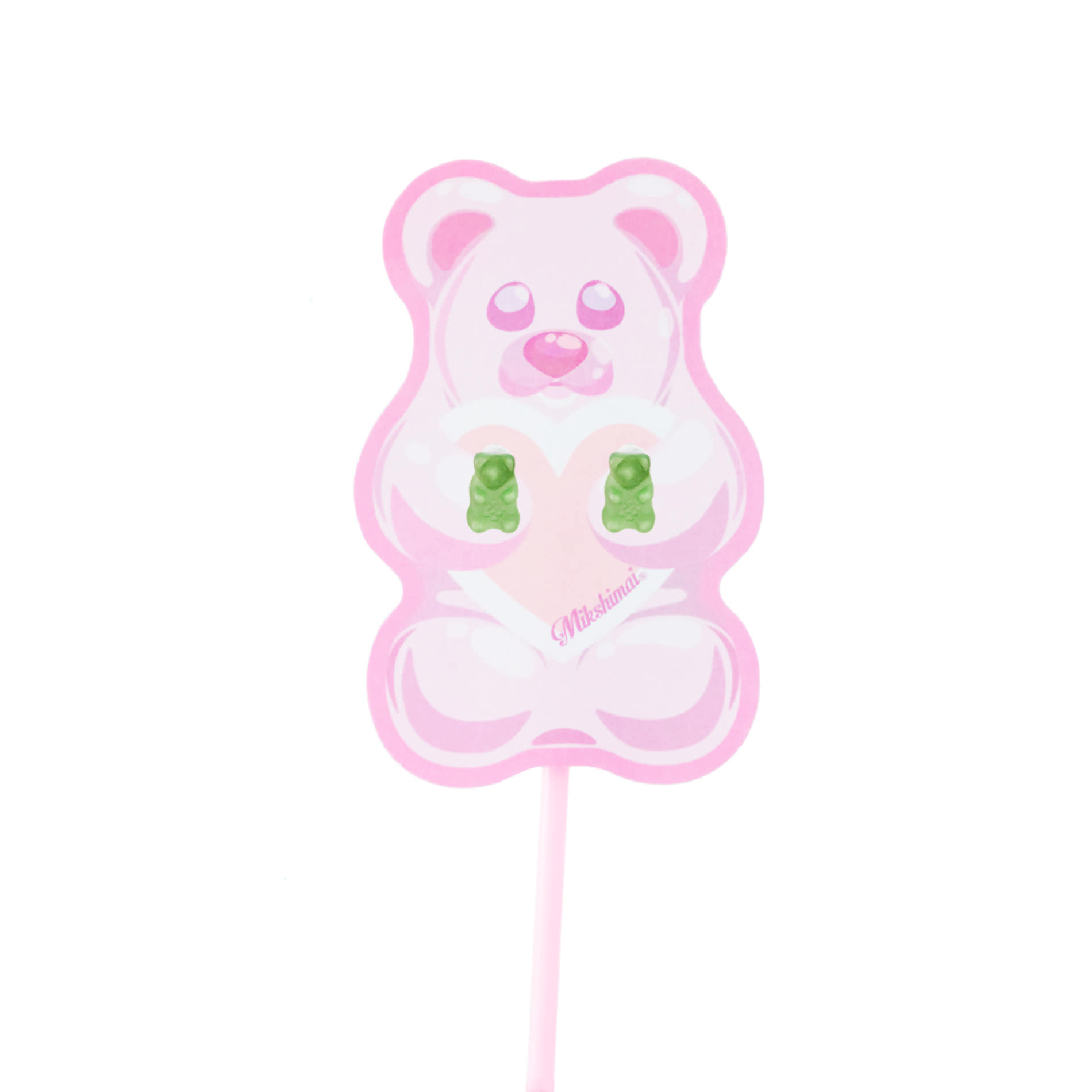 JELLY BEAR STUD EARRINGS (GREEN)