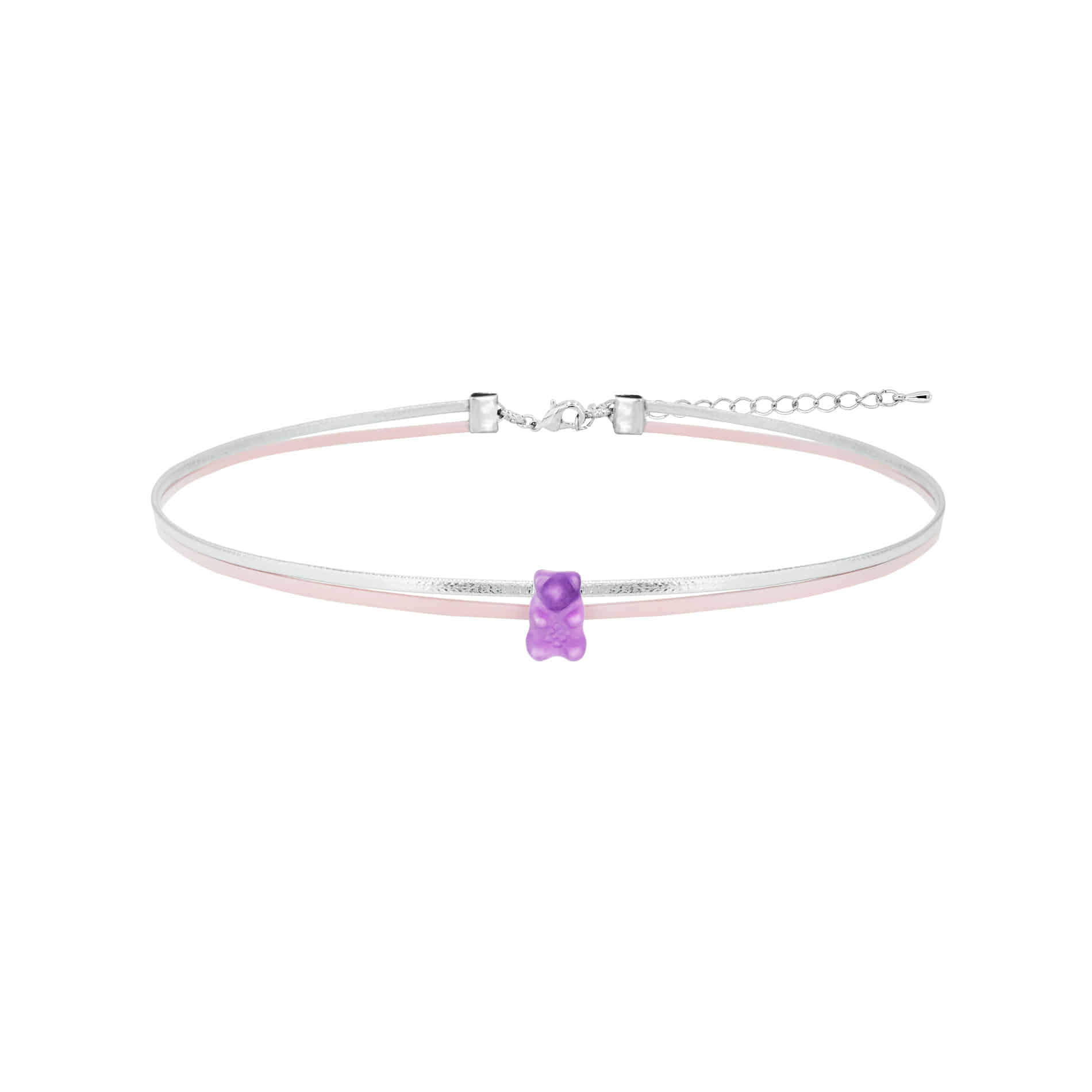 JELLY BEAR CHOKER NECKLACE (PURPLE)